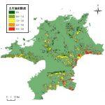 福岡県の土砂災害発生割合分布