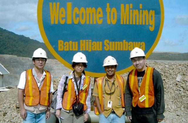 インドネシア バツヒジャウ銅鉱山での実習