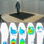 Experimental Setup for Human Walking on Slat Type Surface Plate and Change of Sole Pressure Distribution